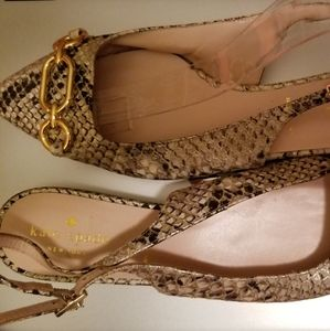 NWT Kate Spade SnakeSkin Leather Flats Sz 7
